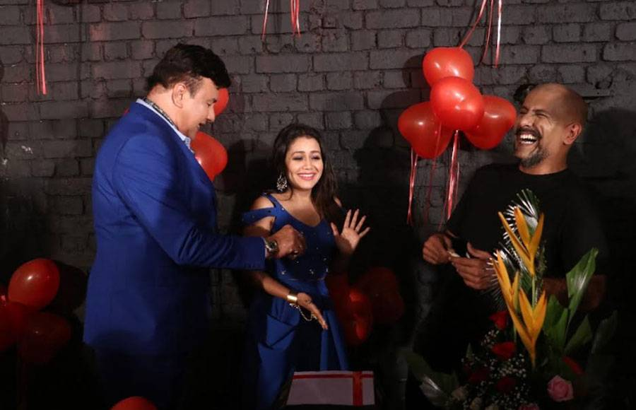 On birthday: Neha Kakkar gets surprised on the sets of Indian Idol 10