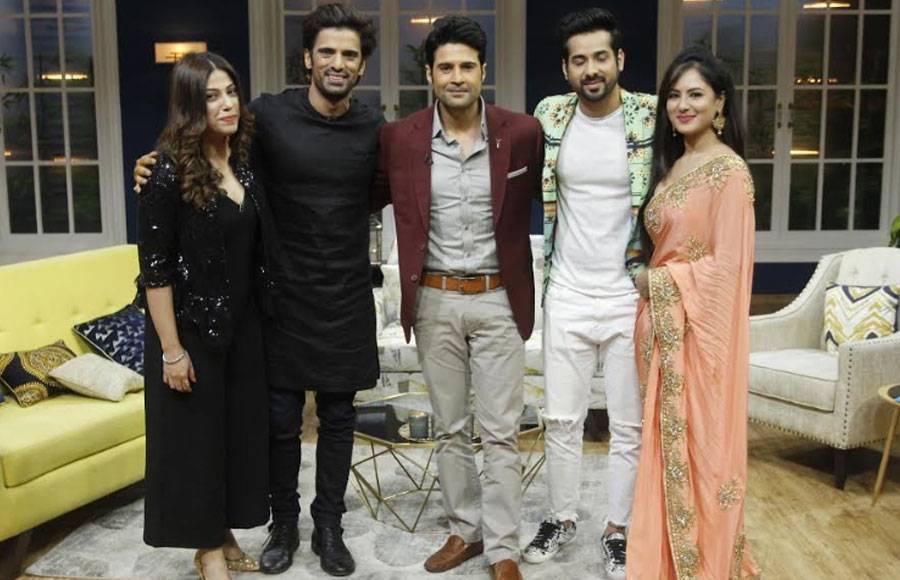 TV couples Pooja-Kunal & Mohit- Addite on the sets of JuzzBaatt