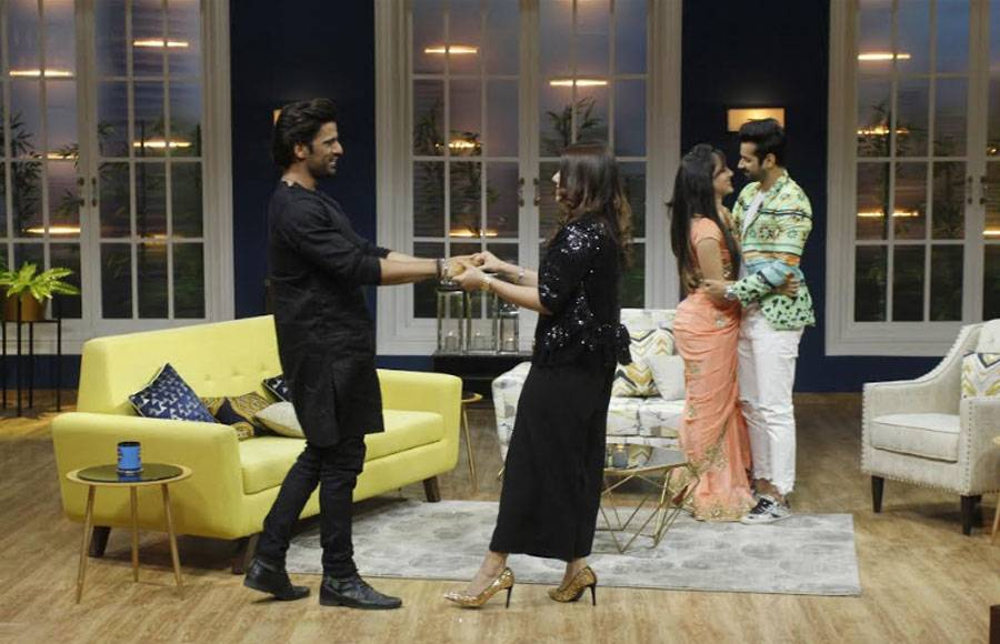 TV couples Pooja-Kunal & Mohit- Addite on the sets of JuzzBaatt