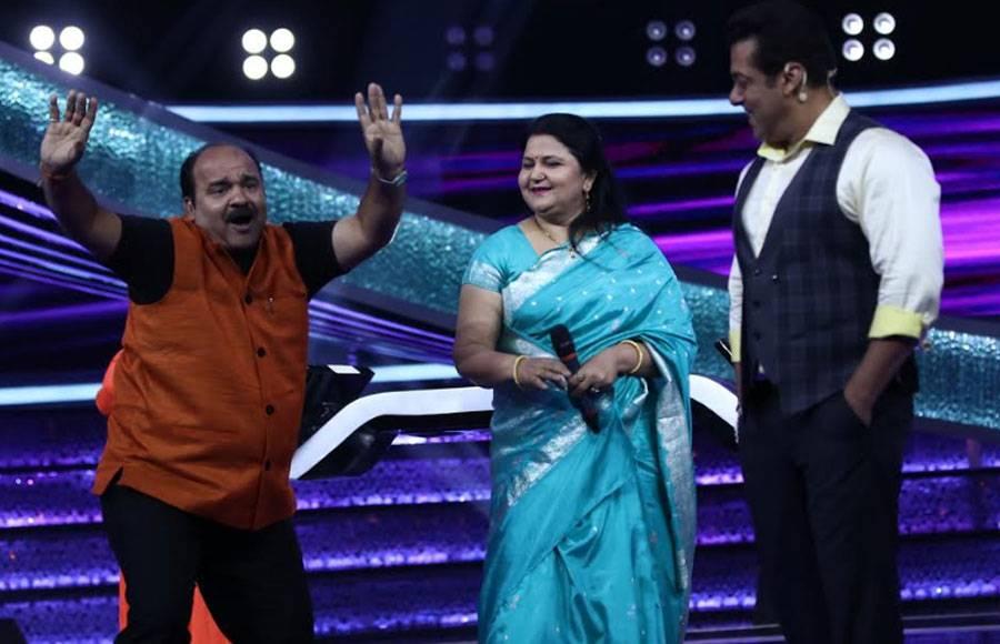 Dancing uncle Sanjeev Srivastav had a gala time with Salman in Dus Ka Dum