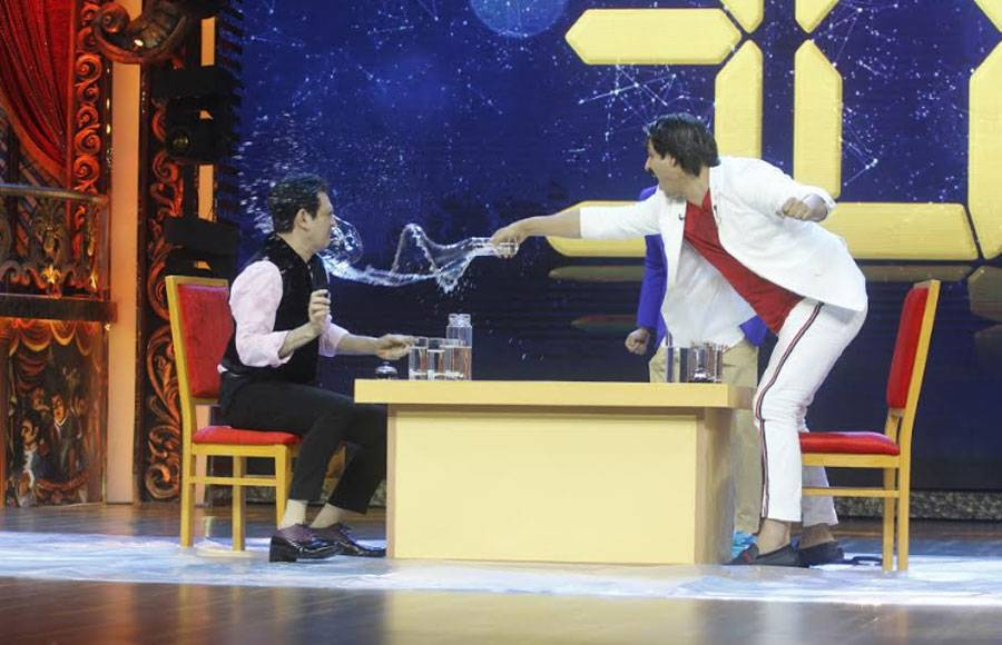 Water fight between the judges of India's Best Dramebaaz