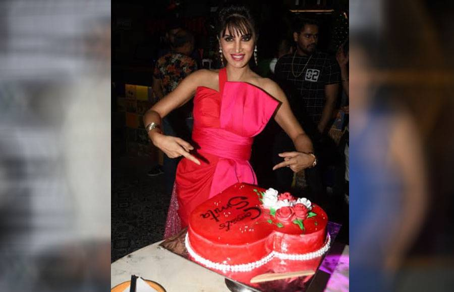 Debina Bonnerjee hosts surprise party for Bigg Boss Marathi contestant Smita Gondkar