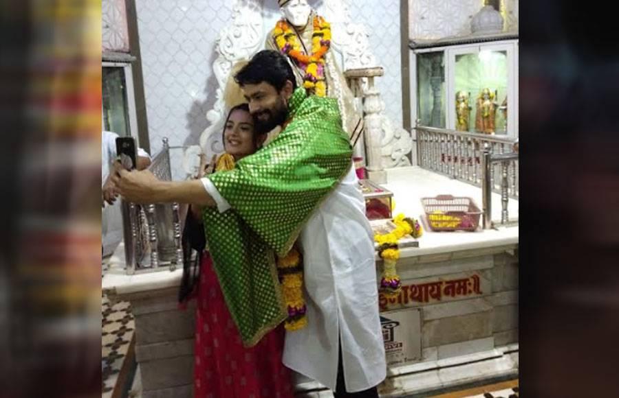 Abeer & Dhrisha seek blessings from Sai Baba on the occasion of Guru Purnima