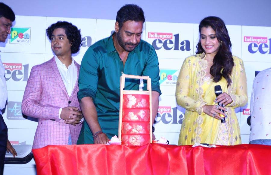 Kajol celebrates her birthday at the trailer launch of Helicopter Eela