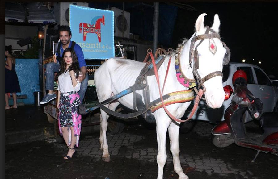 Mouni, Nakuul and other's party hard at Aamir - Sanjeeda's lounge