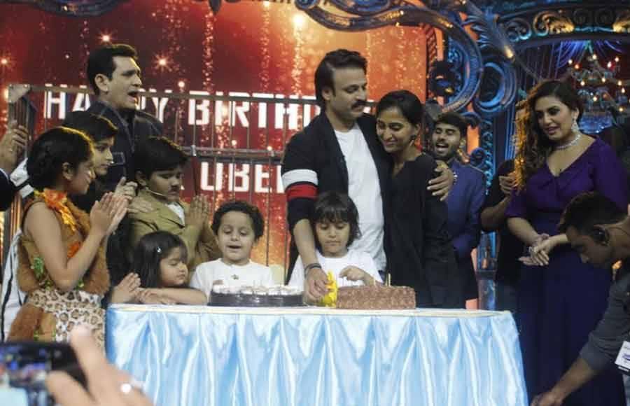 Vivek's Birthday celebration on the sets of India's Best Dramebaaz