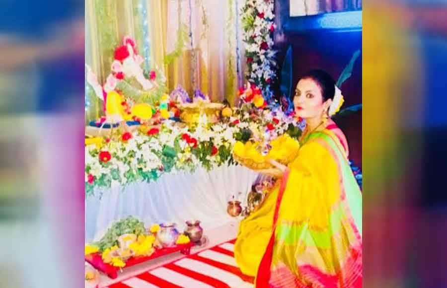 Bhagyashree's special visit to Sheeba for Ganpati