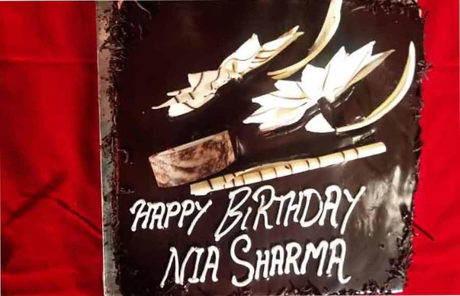 Nia Sharma celebrates her birthday with Team Ishq Mein Marjawan