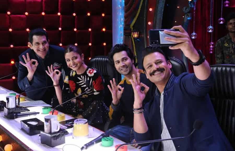 Anushka Sharma and Varun Dhawan promote Sui Dhaga on India's Best Dramebaaz