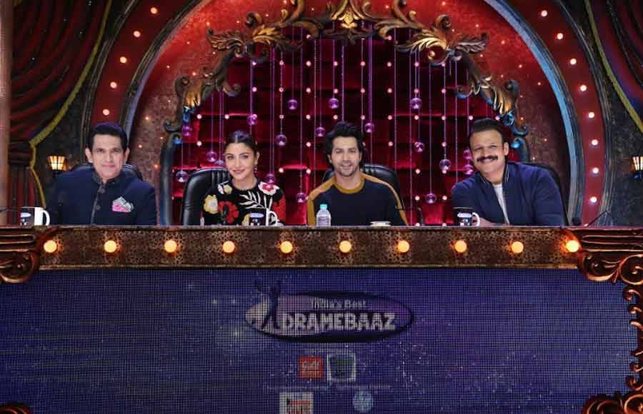 Anushka Sharma and Varun Dhawan promote Sui Dhaga on India's Best Dramebaaz