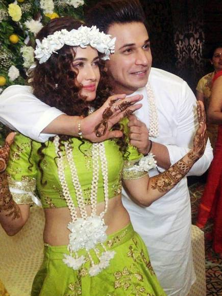 Prince and Yuvika's Mehendi ceremony