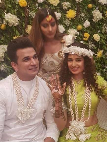 Prince and Yuvika's Mehendi ceremony
