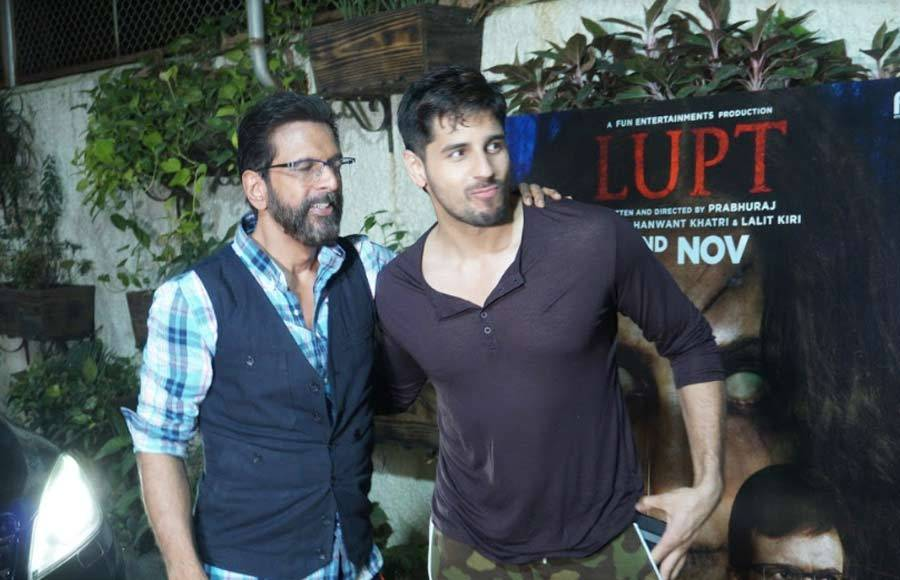 Sidharth Malhotra attends 'Lupt' special screening