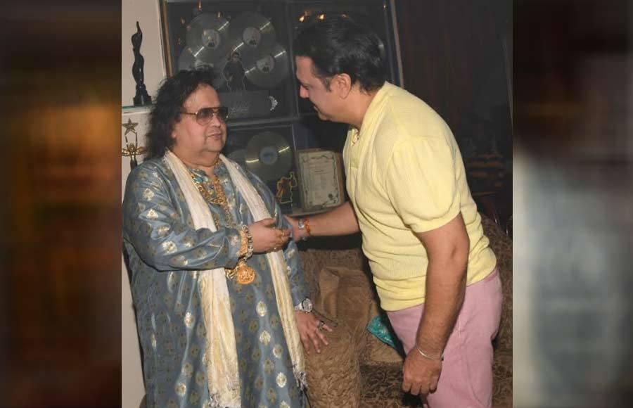 Bappi Lahiri hosted Lakshmi puja at his residence