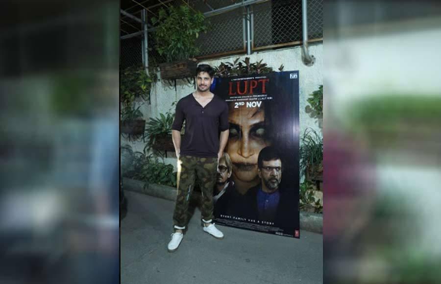 Sidharth Malhotra attends 'Lupt' special screening