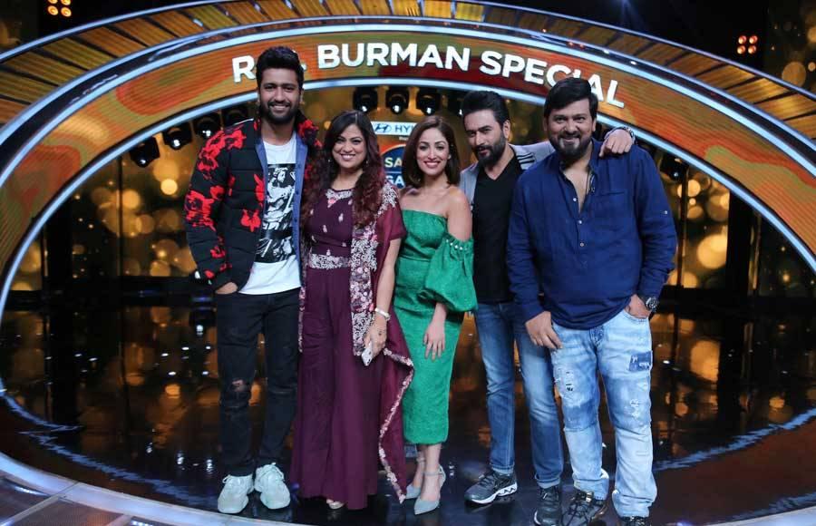 Cast of URI visit the sets of Sa Re Ga Ma Pa