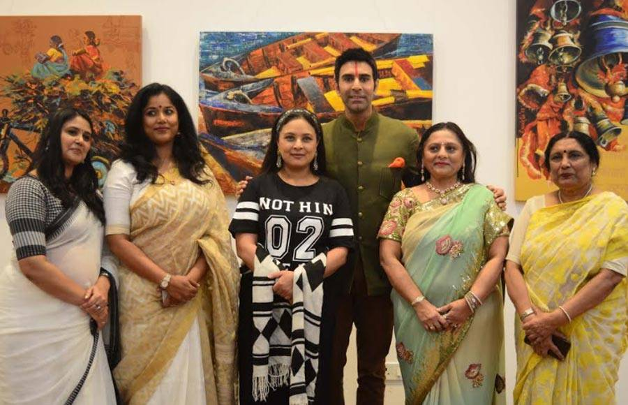 Sandip, Sharbani and Maju inaugurates painting exhibition 'India on Canvas'