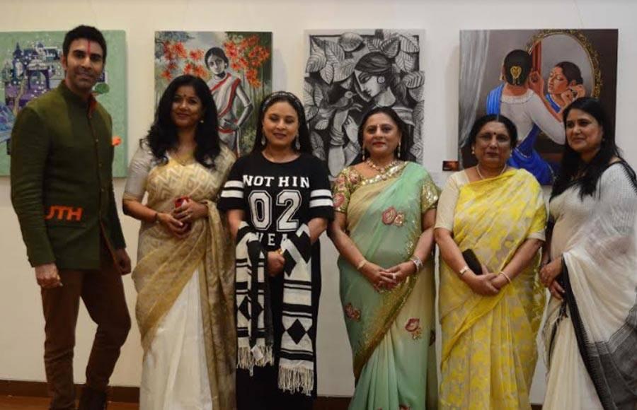 Sandip, Sharbani and Maju inaugurates painting exhibition 'India on Canvas'