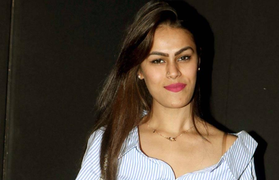 Krushna Abhishek and Mugdha Godse launches the music of comedy Hindi film Sharmaji Ki Lag Gai.