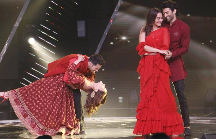 Kalank Cast on the sets of Rising Stars