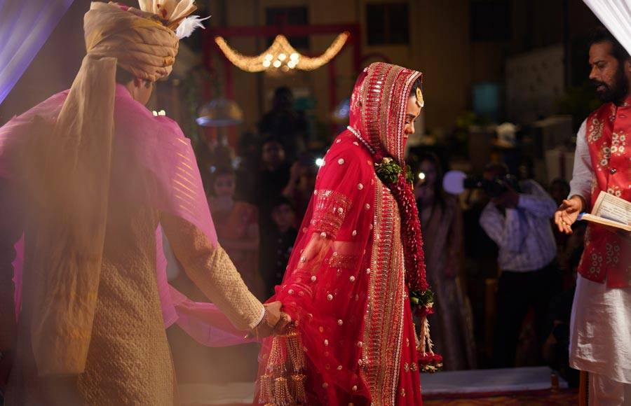 Ssharad Malhotra and Ripci Bhatia's wedding pictures