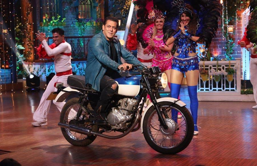 Salman and Katrina have a gala time on the sets of The Kapil Sharma Show