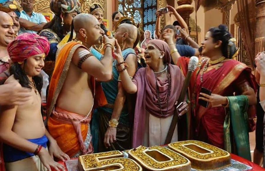In pics: SAB TV's Tenali Rama cast celebrates on completing 500 episodes
