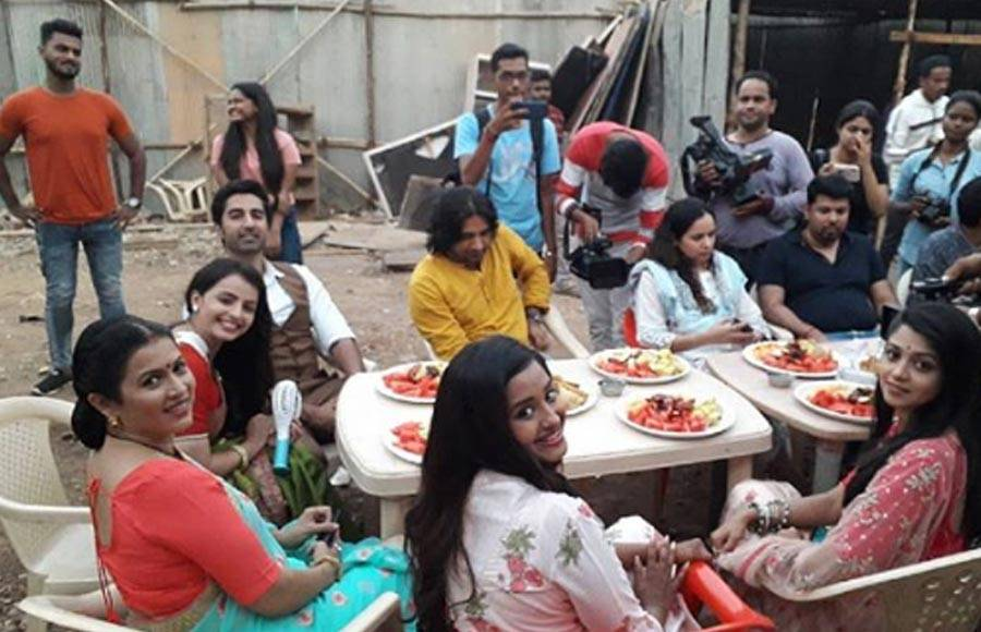 Iftar party on the sets of Ek Bhram Sarvagun Sampanna