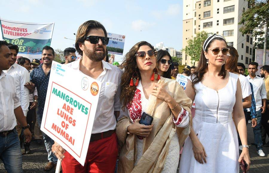 Actors come together for an initiative 'Walk For Mangroves'