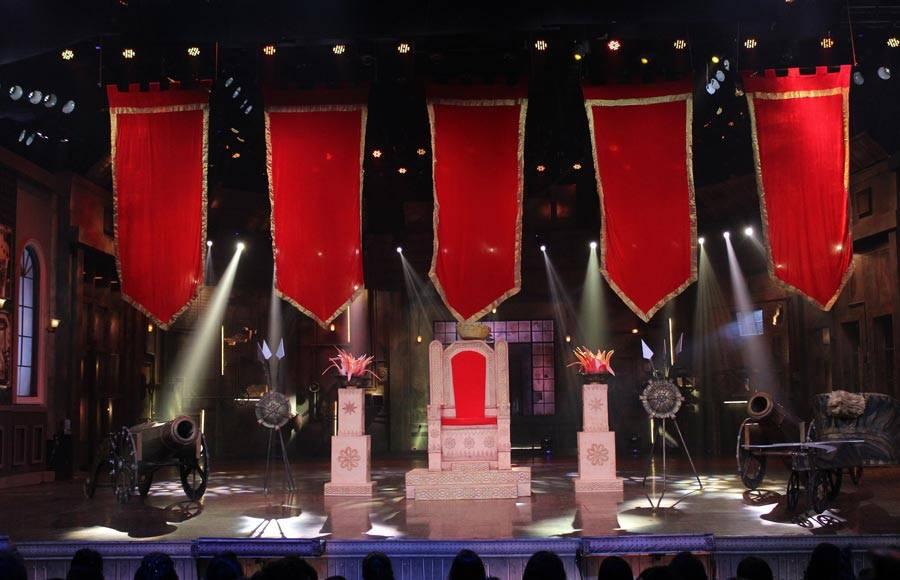 Baahubali act on the set of COLORS' Khatra Khatra Khatra