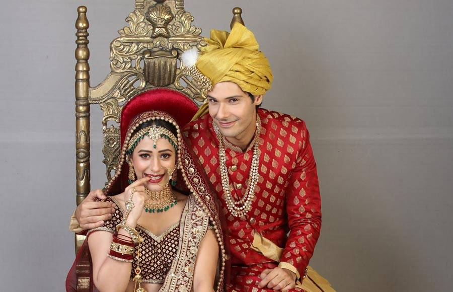 Wedding pics of  Pancham and Elaich  from  Sab Tv's Jijaji Chhat Per Hain