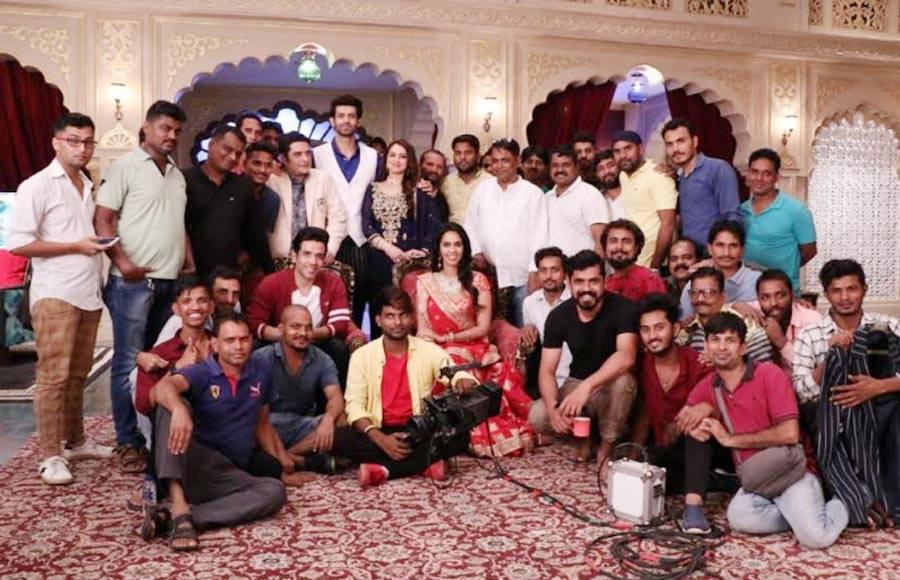 Team Boo Sabki Phategi shoots with Kavach cast
