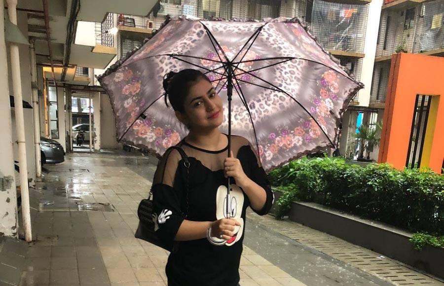 In Pics:  TV actresses enjoy monsoon