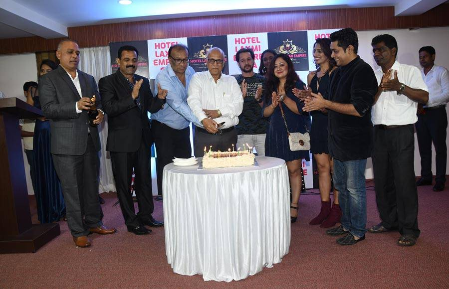 Celebrities at the unveling of Laxmi Empire in Goa