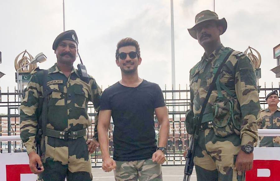 In pics: Arjun Bijlani visits Wagha Border