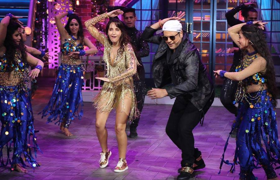 Vicky Kaushal and Noora Fatehi on The Kapil Sharma Show