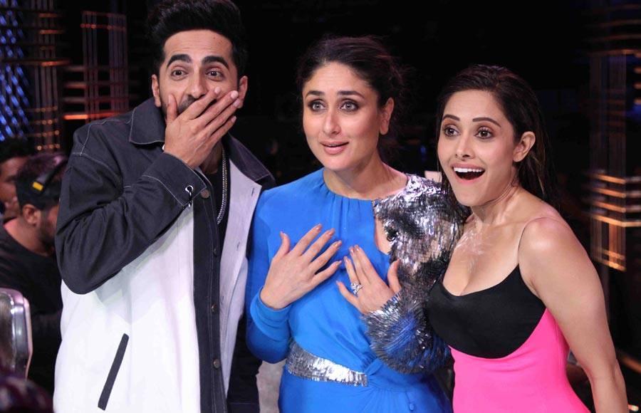 Dream Girl cast at Dance India Dance set