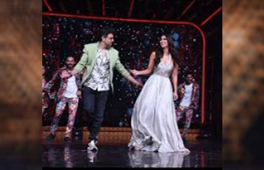 Hrithik Roshan, Vaani Kapoor and Tiger Shroff on the sets of Nach Baliye 9