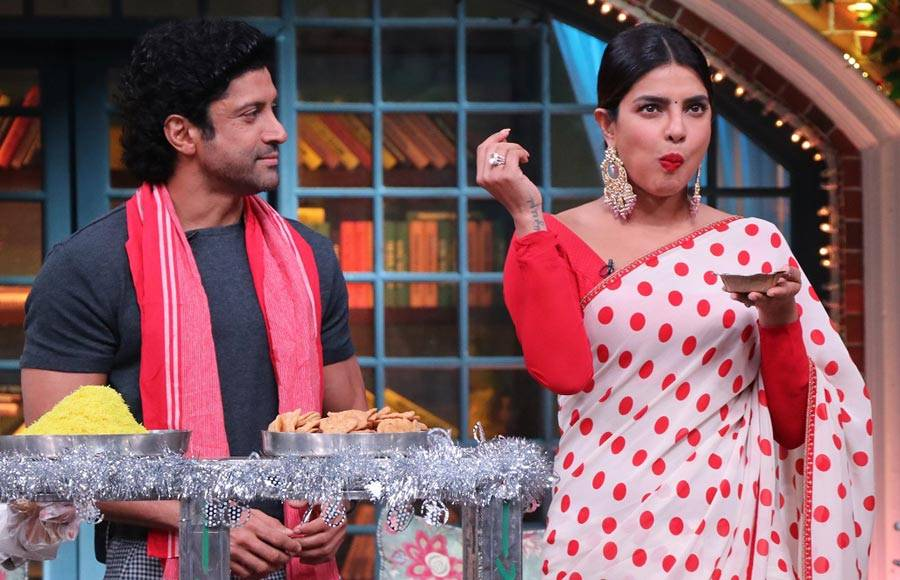 Priyanka Chopra and Farhan Akhtar on The Kapil Sharma Show