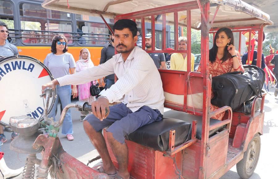 TV Actors Shweta Tiwari and Varun Badola shoots in Delhi for Mere Dad Ki Dulhan
