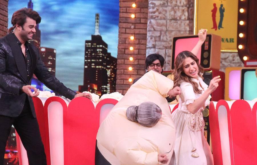 Sara Ali Khan and Rohit Shetty from the sets of Movie Masti with Maniesh Paul