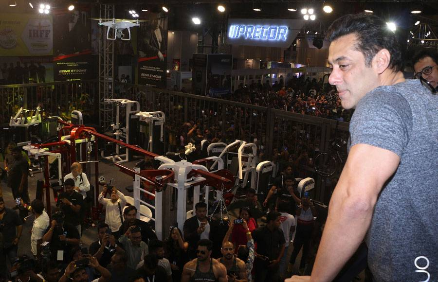Salman Khan's brand Being Strong's equipment showcased at a Grand Fitness Exhibition