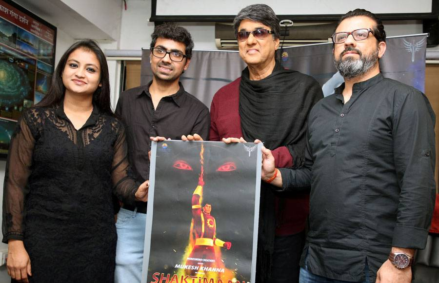 Mukesh Khanna launched the 3D animated series poster of Shaktimaan