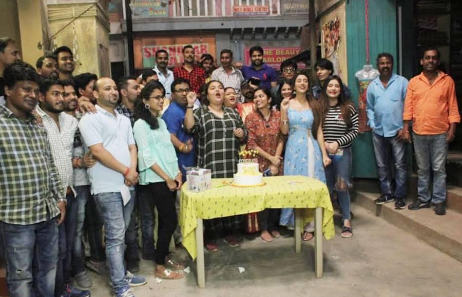 Jijaji Chhat Par Hai cast celebrate on turns 500 episodes