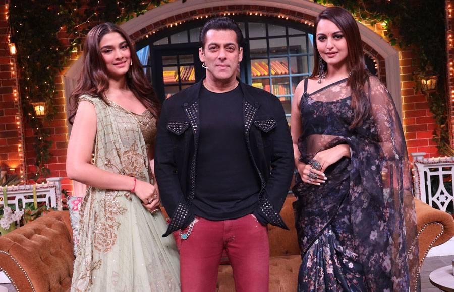 Dabbang Salman Khan on the sets of The Kapil Sharma Show