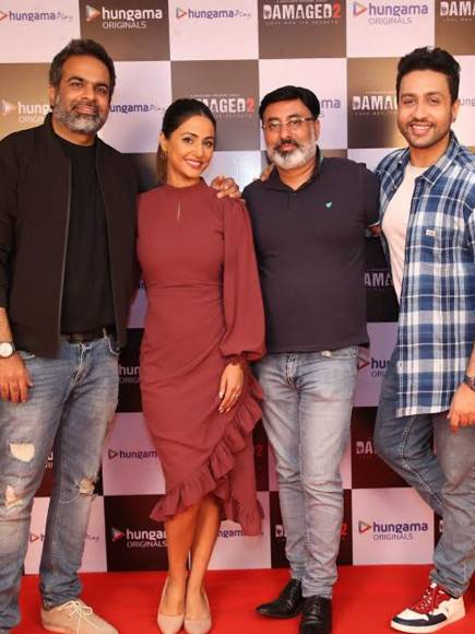 Launch of Damaged starring Hina Khan and Adhyayan Suman