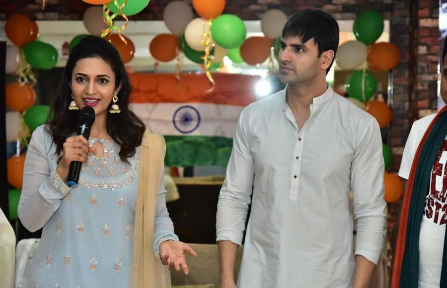 Divyanka Tripathi and Vivek Dahiya at Bhopal for Republic Day Celebration