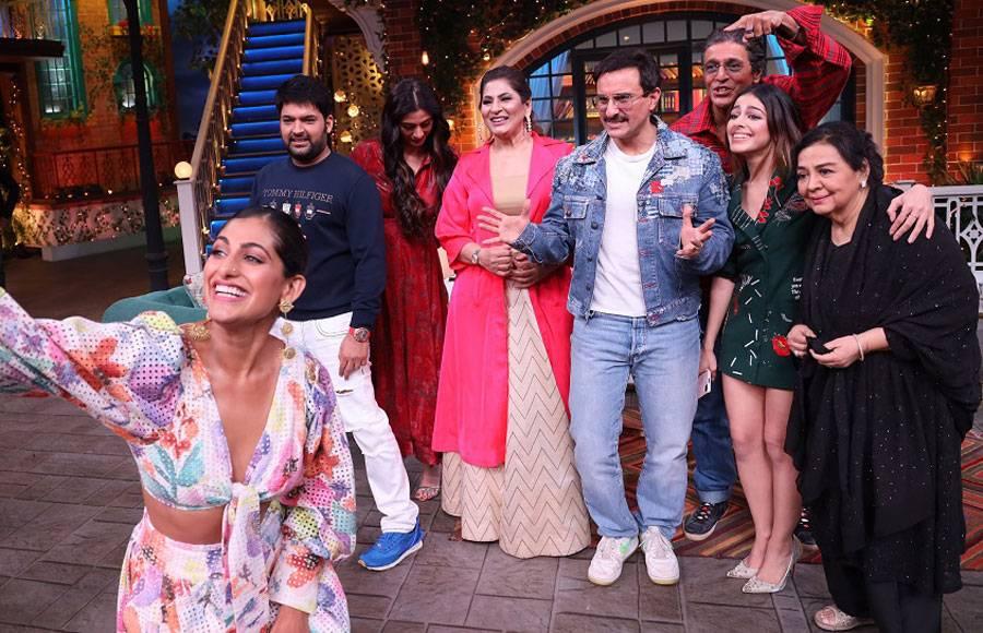 Malang and Jawani Janeman cast on sets of The Kapil Sharma Show