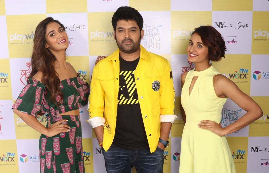 Kapil Sharma, Mouni Roy & Terence Lewis shoot for Break A Leg Season 2