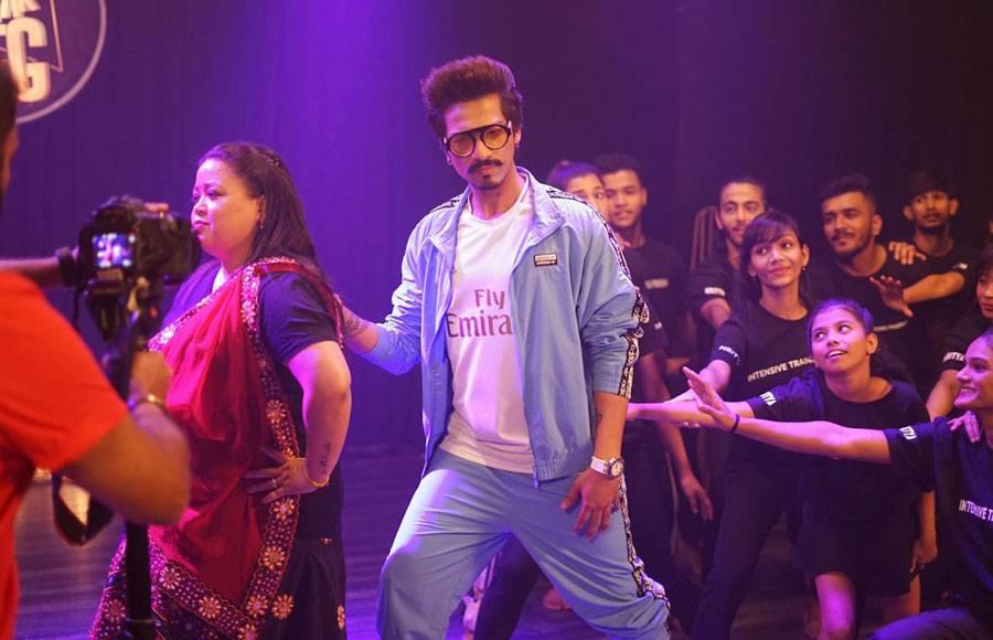 Bharti Singh and Haarsh Limbachiyaa shoot for Break A Leg season 2